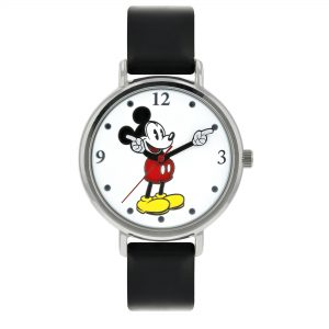 Disney Mickey Mouse Quartz Movement Leather Bracelet Unisex Watch MK1315