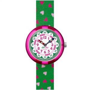 Flik Flak City of Life Heartistic Quartz Movement White Dial Textile Bracelet Kids Watch FBNP161