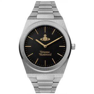 Vivienne Westwood Limehouse Grand Quartz Movement Black Dial Stainless Steel Bracelet Mens Watch VV245BKSL