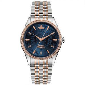 Vivienne Westwood The Wallace Quartz Movement Blue Dial Stainless Steel Bracelet Ladies Watch VV208BLSR