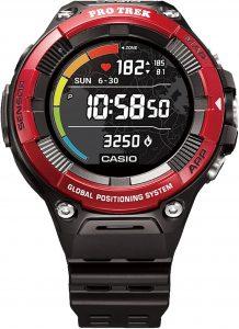Casio ProTrek Digital Black/Red Dial Resin Bracelet Unisex Watch WSD-F21HR-RDBGB