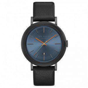 Ted Baker Connor Quartz Movement Blue Dial Leather Strap Men's Watch TE15062007