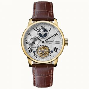 Ingersoll The Riff Automatic White Dial Brown Leather Strap Men's Watch I07403