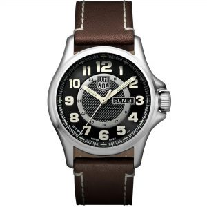Luminox Land Field Automatic Movement Black Dial Leather Bracelet Mens Watch GGL.L1801.NV
