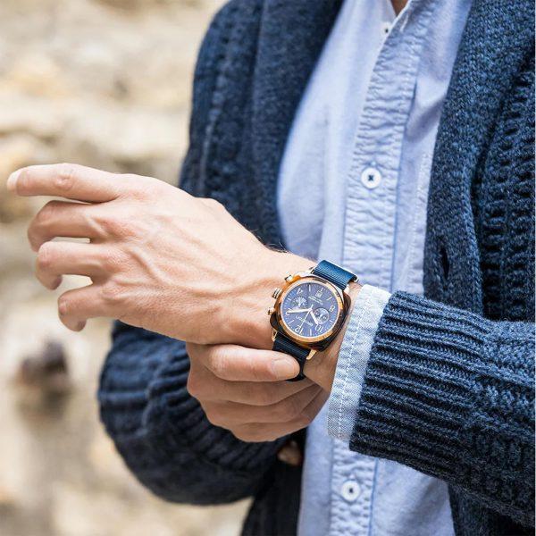 Briston Clubmaster Classic Blue Mens Watch 19140-PRS.T.33.NMB