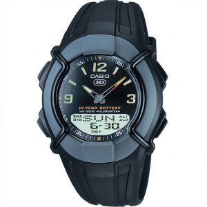 Casio Chronograph Heavy Duty Digital Black Dial Resin Bracelet Mens Watch HDC-600-1BVES