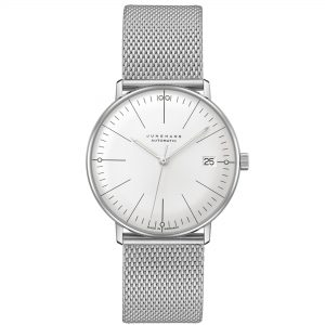 Junghans Max Bill Kleine Automatic White Dial Stainless Steel Bracelet Mens Watch 027/4106.46