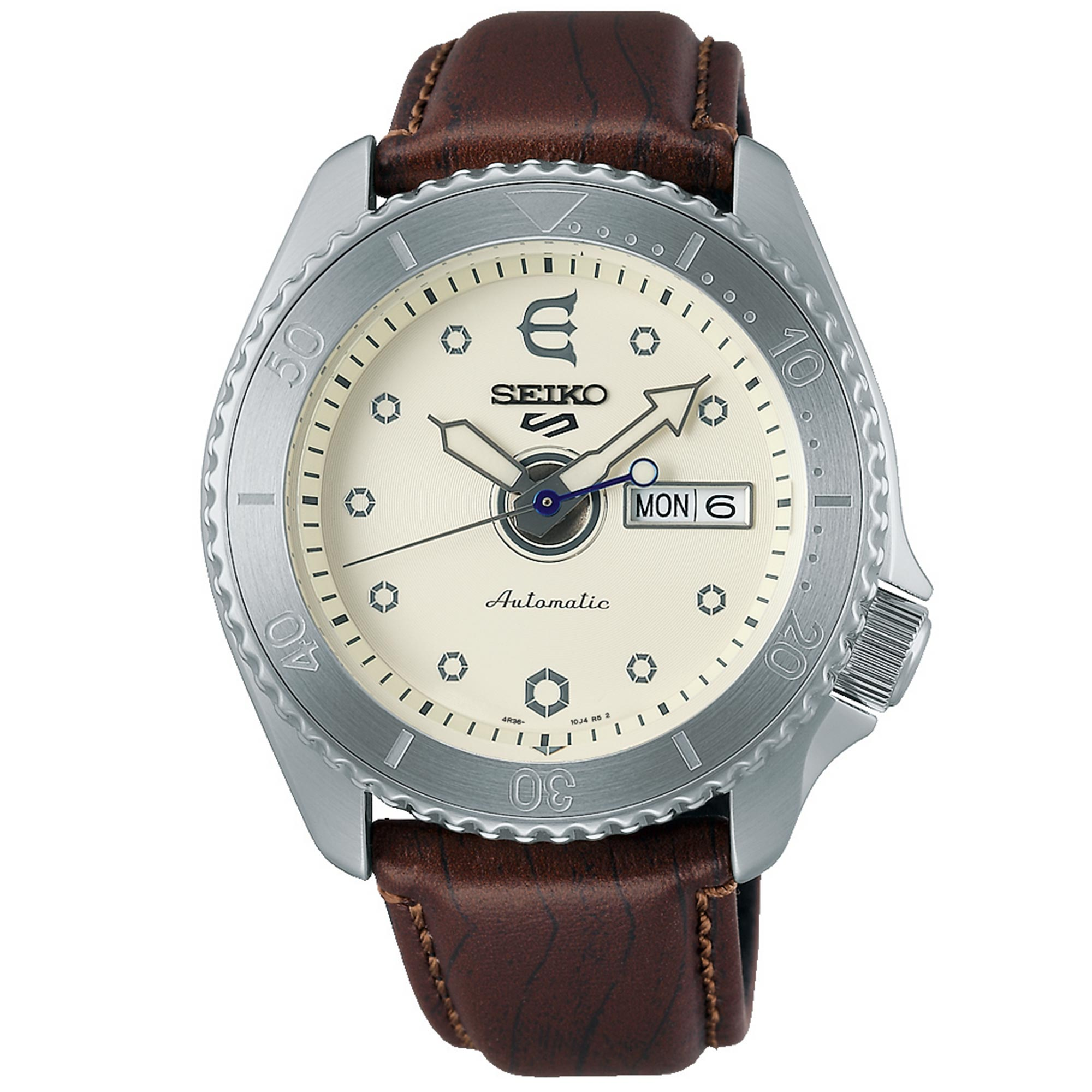 Seiko 5 Sports Evisen Skateboards Limited Edition Automatic Movement Stainless Steel Case Leather Strap SRPF93K1 Skateboard