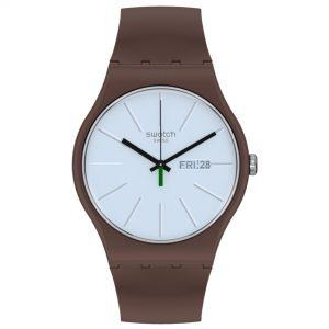 Swatch Laki Quartz Movement Blue Dial Silicone Bracelet Mens Watch SO29M701