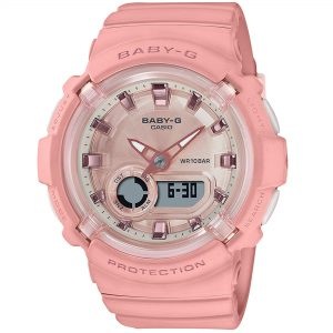 Casio Baby-G Solar Powered Digital Pink Dial Resin Bracelet Ladies Watch BGA-280-4AER