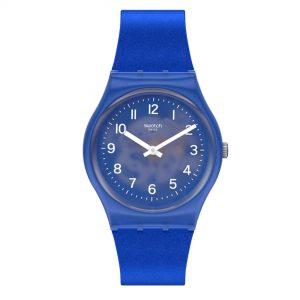 Swatch Original Gent Quartz Blue Dial Blue Silicone Strap GL124