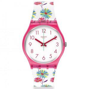 Swatch Original Gent Quartz White Dial Pink Strap GP171
