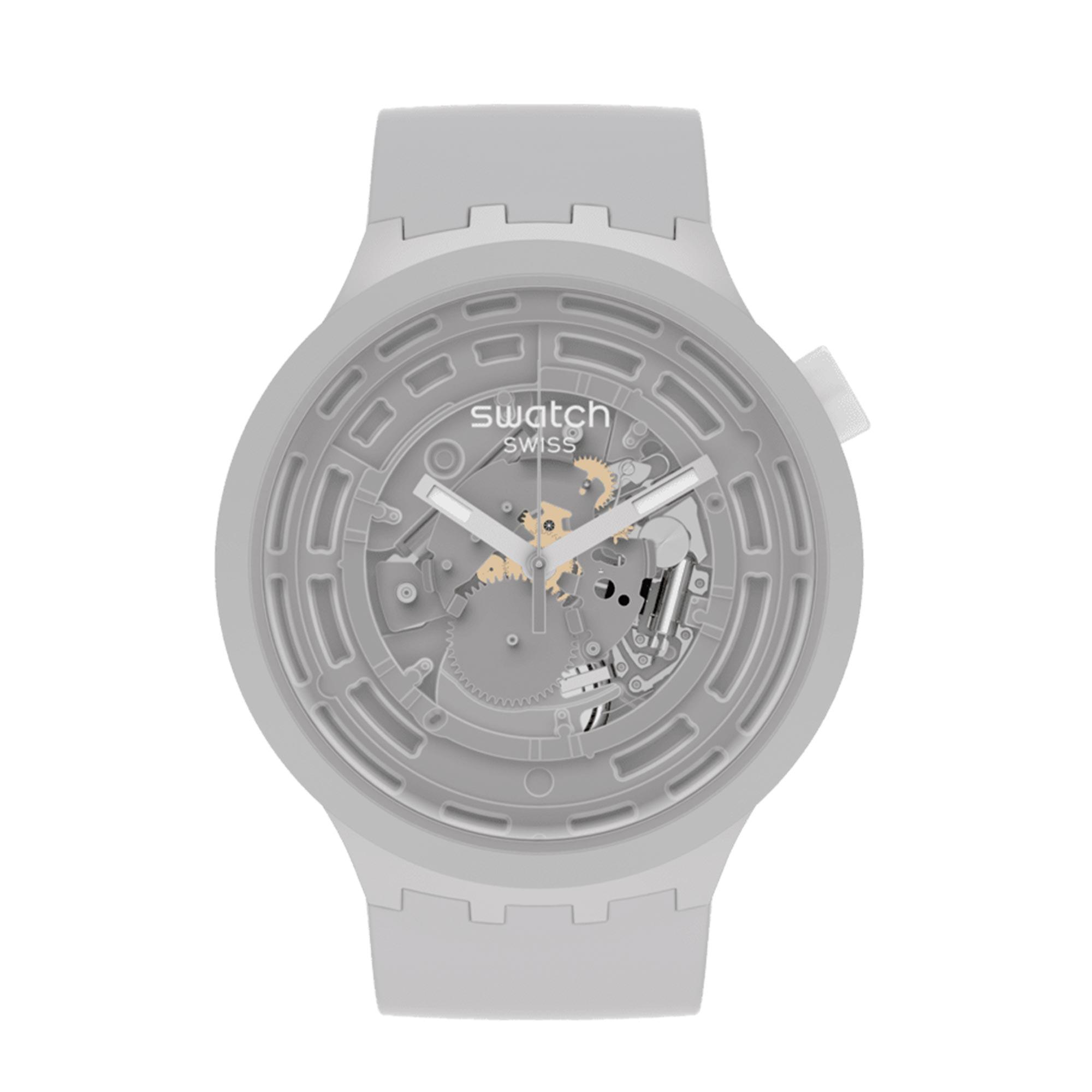 Swatch Big Bold Next Quartz Grey Watch Bio-sourced Grey Strap SB03M100