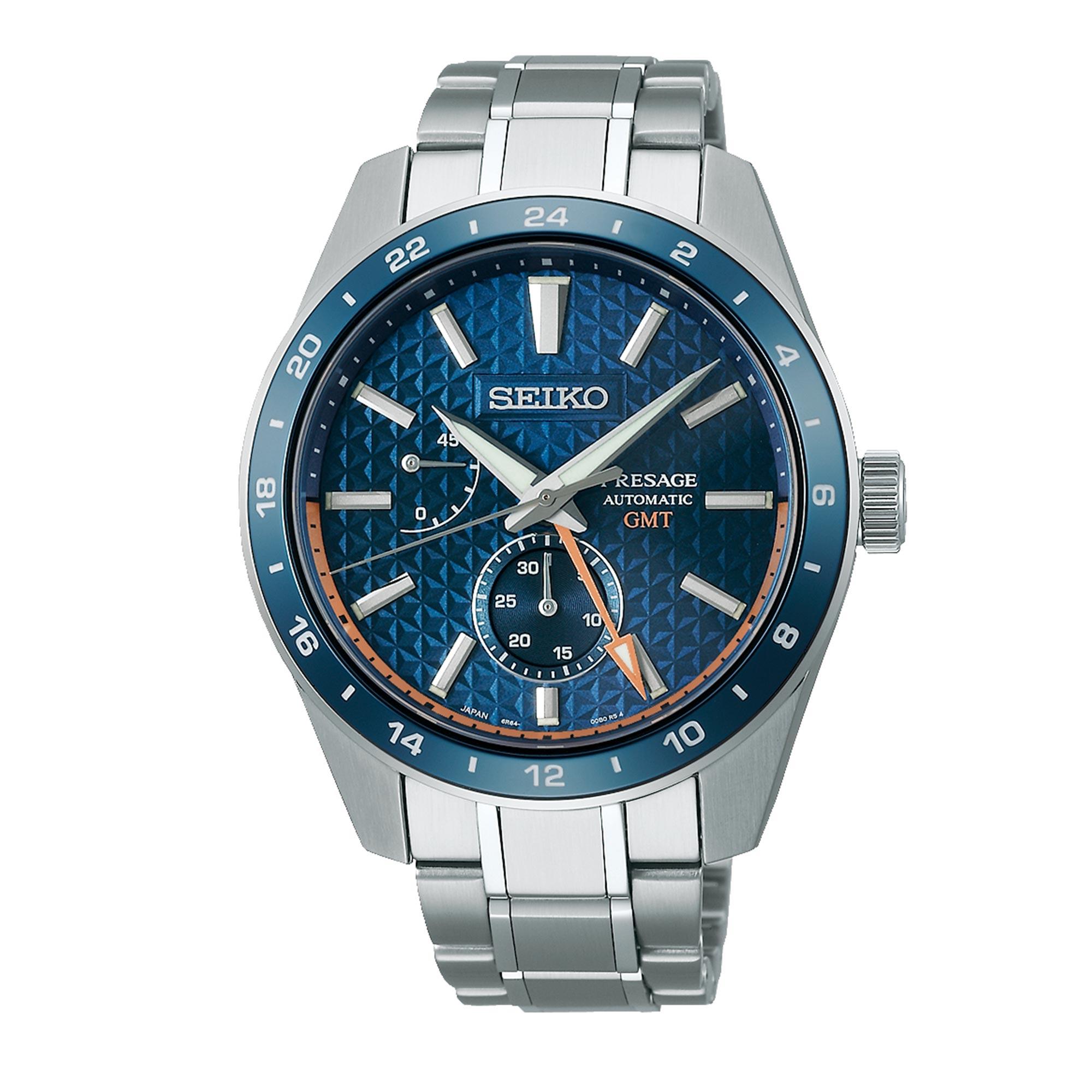 Seiko Presage Sharp Edged Series Automatic Movement Blue Dial Stainless Steel Bracelet SPB217J1