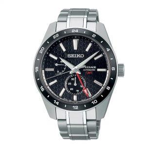 Seiko Presage Sharp Edged Series Automatic Movement Black Dial Stainless Steel Bracelet SPB221J1