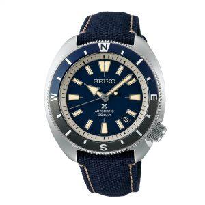 Seiko Prospex Tortoise Automatic Movement Blue Dial Polyester Bracelet Men's Watch SRPG15K1