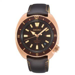Seiko Prospex Tortoise Automatic Movement Brown Dial Leather Bracelet Men's Watch SRPG18K1
