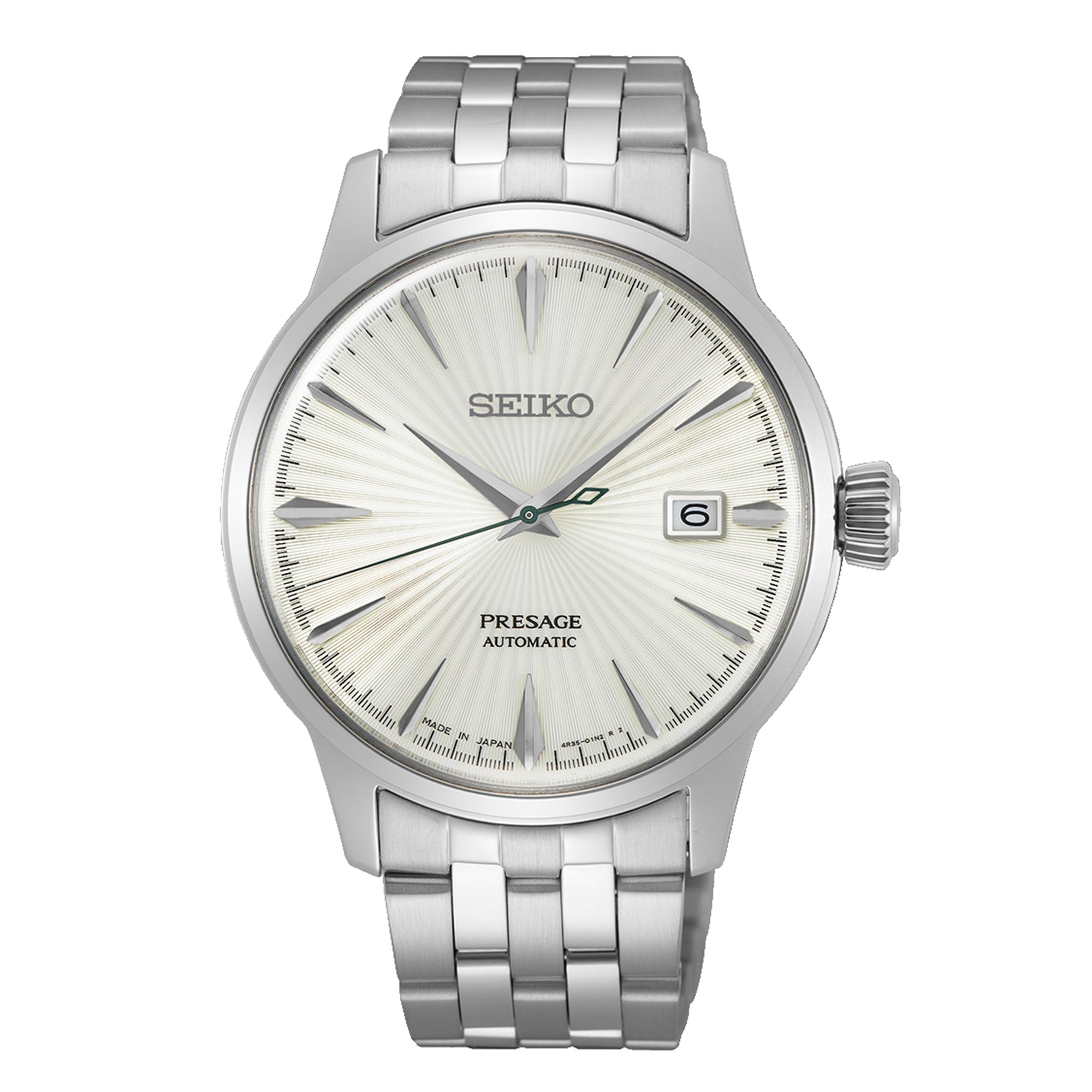 Seiko Presage Cocktail Time The Martini Automatic Movement White Dial Stainless Steel Bracelet SRPG23J1