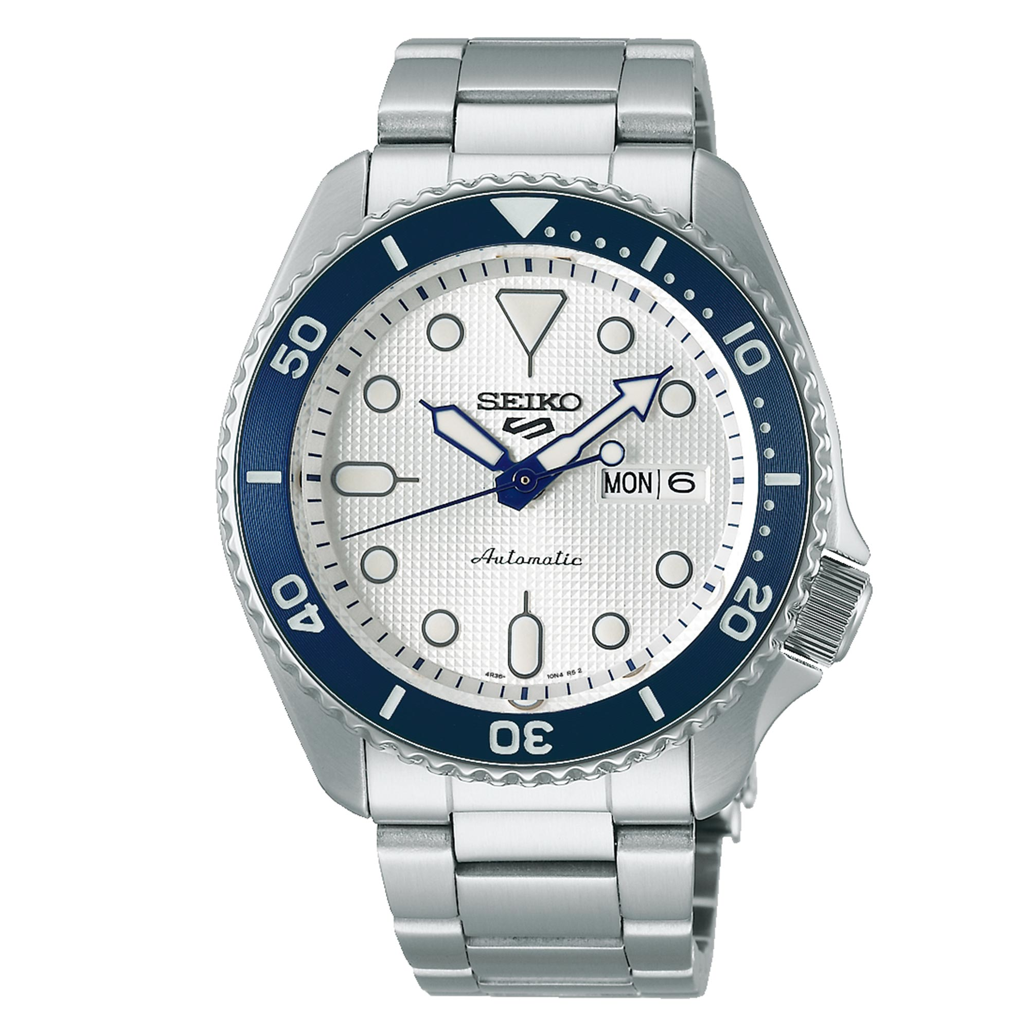 Seiko 5 Sports 140th Anniversary Limited Edition Automatic Movement White Dial Stainless Steel Bracelet SRPG47K1