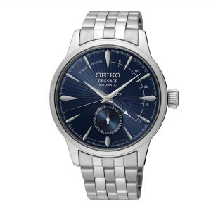 Seiko Presage Cocktail Time The Blue Moon Automatic Movement Blue Dial Stainless Steel Bracelet SSA347J1