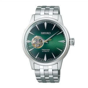 Seiko Presage Cocktail Time Grasshopper Automatic Movement Green Dial Stainless Steel Bracelet SSA441J1