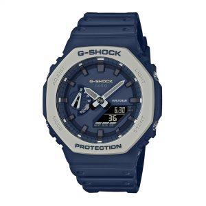 Casio G-Shock Quartz Blue Dial Blue Silicone Strap Mans Watch GA-2110ET-2AER
