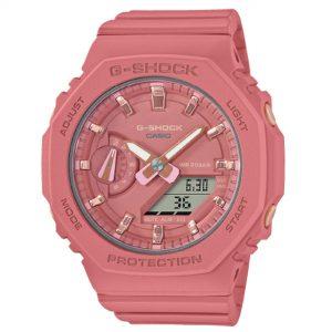 Casio G-Shock Classic Quartz Pink Dial Pink Silicone Strap Ladies Watch GMA-S2100-4A2ER