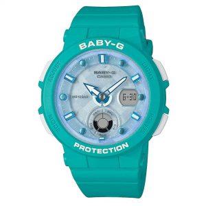 Casio Baby-G Analogue-Digital Quartz Blue Dial Resin Bracelet Ladies Watch BGA-250-2AER
