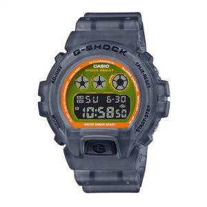 Casio G-Shock Digital Orange Dial Resin Bracelet Watch DW-6900LS-1ER