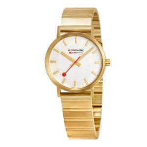 Mondaine Classic Quartz Movement White Dial Stainless Steel Bracelet Watch A660.30314.16SBM