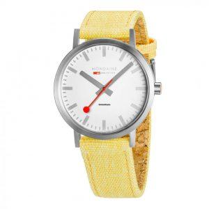 Mondaine Classic Quartz Movement White Dial Leather Bracelet Watch A660.30360.16SBE