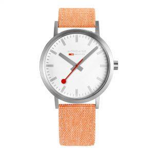 Mondaine Classic Quartz Movement White Dial Leather Bracelet Watch A660.30360.16SBF