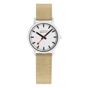 Mondaine Essence Quartz White Dial Beige Strap Ladies Watch MS1.32110.LS