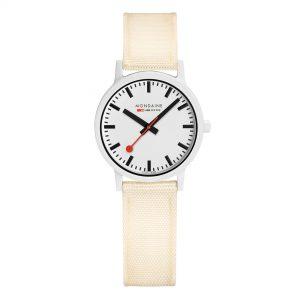 Mondaine Essence Quartz e Dial White Strap Ladies Watch MS1.32111.LT