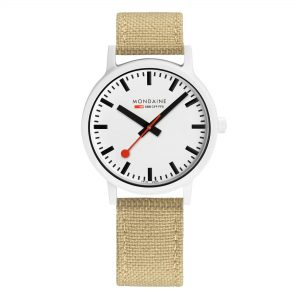Mondaine Essence Quartz e Dial Sand Strap Ladies Watch MS1.41110.LS