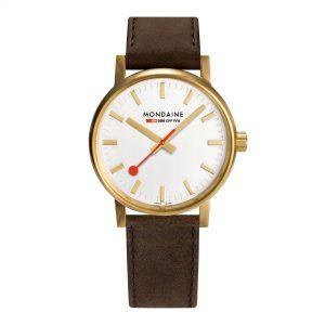 Mondaine Evo Quartz White Dial Leather Strap Ladies Watch MSE.40112.LG