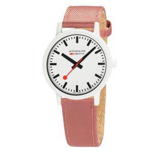 Mondaine Essence Quartz White Dial Canvas Strap Watch MS1.41111.LP