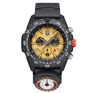 Luminox Bear Grylls Survival Master Quartz Movement Yellow Dial Rubber Strap Men's Watch XB.3745