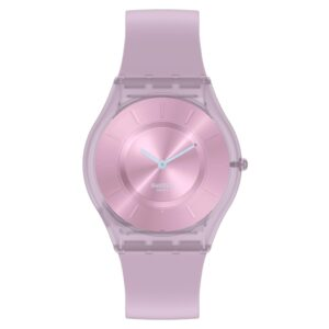 Swatch Skin Sweet Pink Quartz Movement Pink Dial Silicone Strap Watch SS08V100