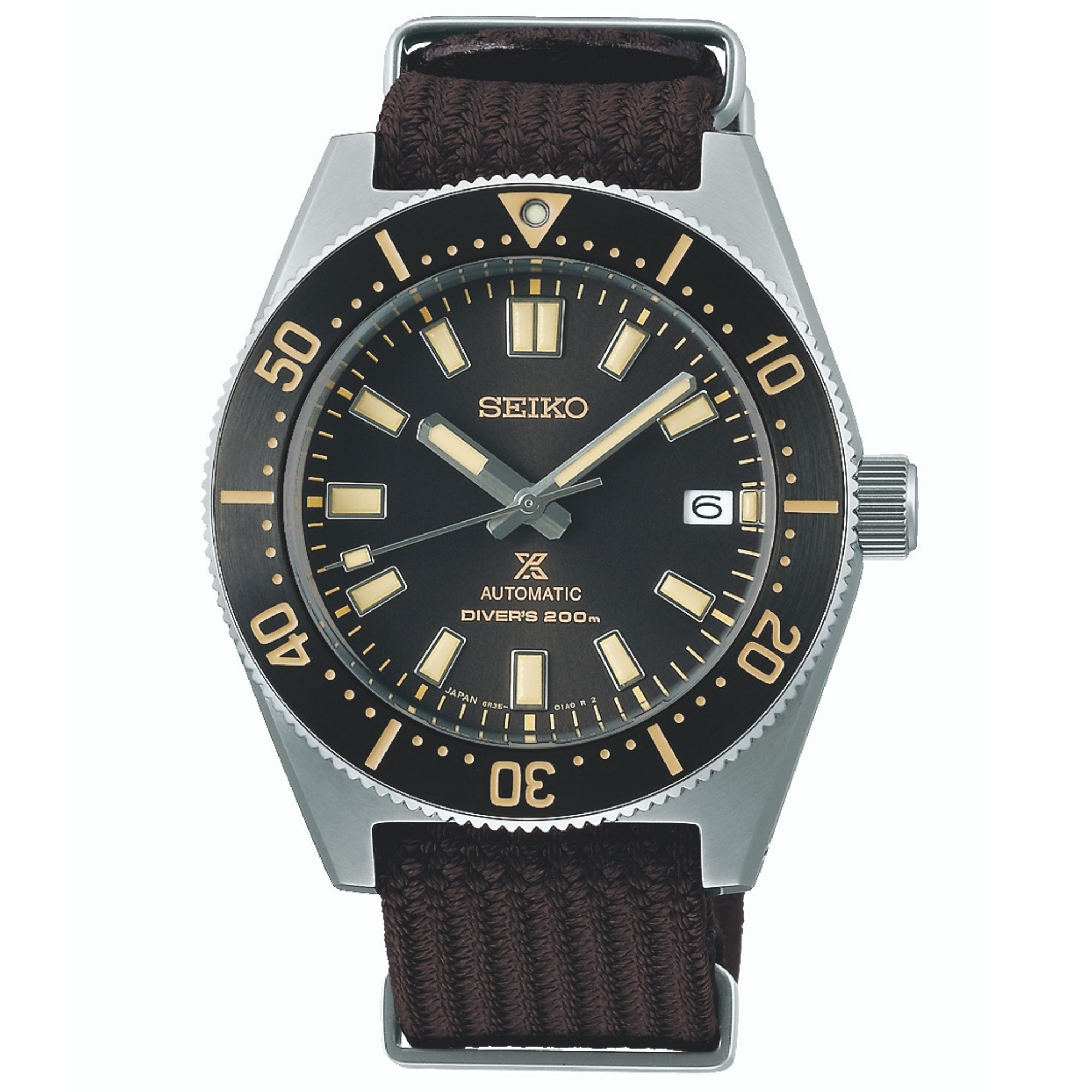 Seiko Prospex First Japanese Diver's Re-interpretation Automatic Movement Blck Dial Textile Bracelet SPB239J1
