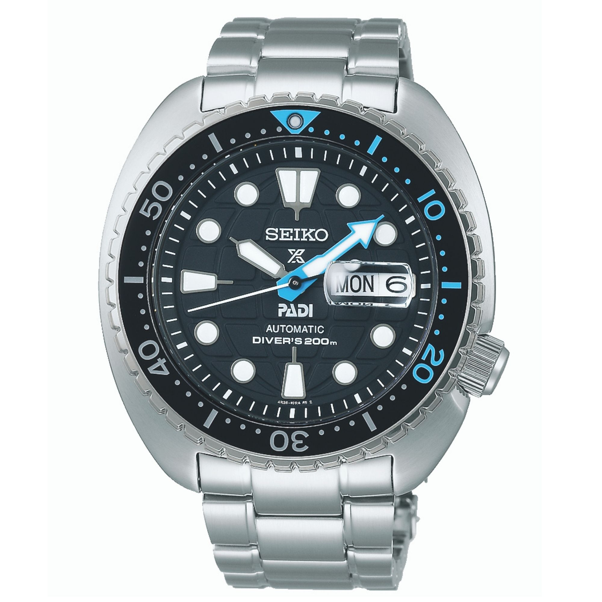 """Seiko Prospex PADI Special Edition """"King Turtle"""" Automatic Movement Blue Dial Stainless Steel Bracelet SRPG19K1"""