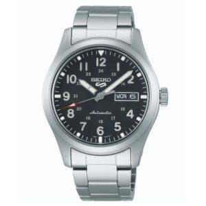 Seiko 5 Sports Automatic Movement Black Dial Stainless Steel Bracelet Men's Watch SRPG27K1