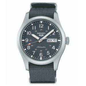 Seiko 5 Sports Automatic Movement Grey Dial Nylon Bracelet Men's Watch SRPG31K1