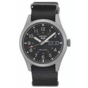 Seiko 5 Sports Automatic Movement Black Dial Nylon Bracelet Men's Watch SRPG37K1