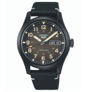 Seiko 5 Sports Automatic Movement Green Dial Leather Bracelet Men's Watch SRPG41K1