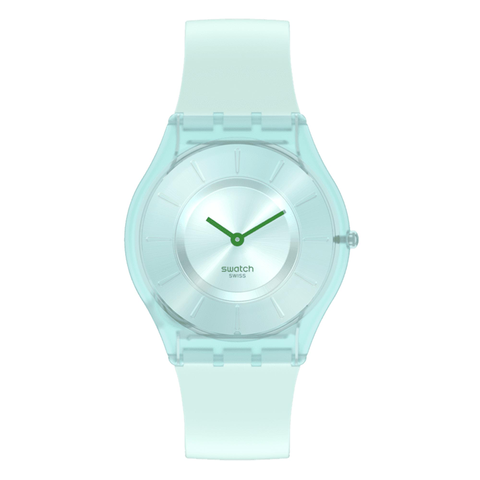 Swatch Sweet Mint Green Quartz Movement Green Dial Silicone Strap Watch SS08G100
