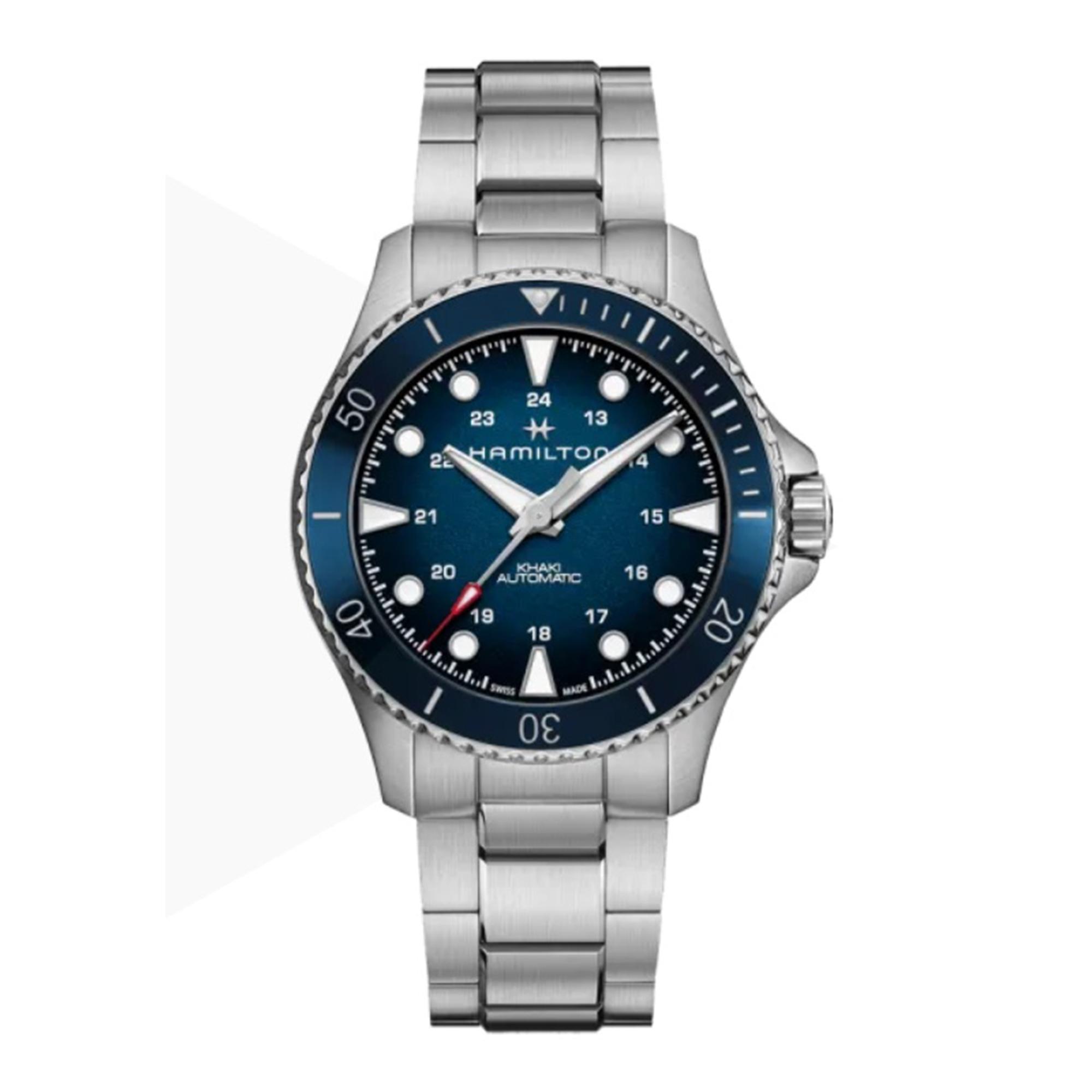 Hamilton Khaki Navy Scuba Automatic Blue Dial Stainless Steel Bracelet Men's Watch H82505140